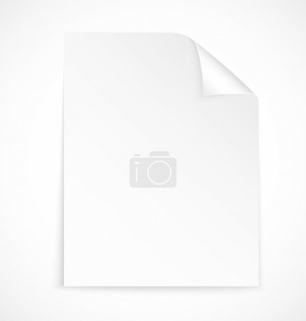 Illustration pour Icône papier lettre vierge sur fond blanc. Illustration vectorielle - image libre de droit