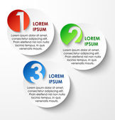 Abstract circles paper infographics numbered banners option layout Vector illustration