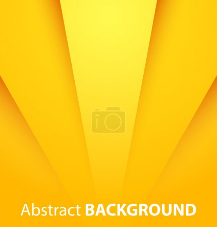 Illustration for Abstract yellow paper background with shadow. Vector illustration - Royalty Free Image