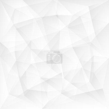 Illustration pour Résumé triangle blanc fond polygonal. Illustration vectorielle - image libre de droit