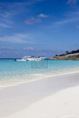 Beautiful whiite sand beach