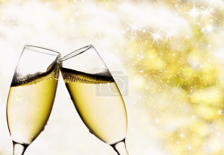 Photo for Vintage background with champagne glasses - Royalty Free Image