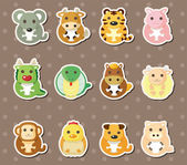 12 Chinese Zodiac animal stickers