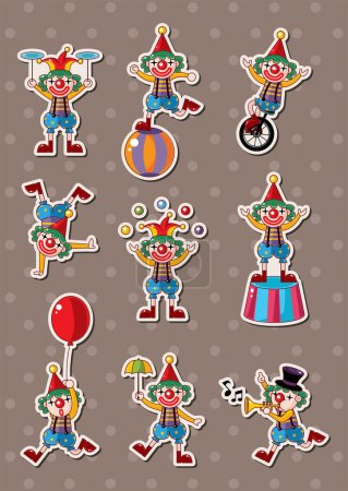 Illustration for Clown stickers - Royalty Free Image