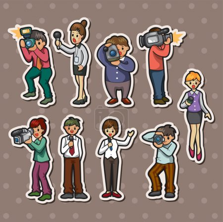 Set of reporter stickers...