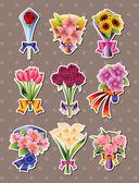 cartoon flower stickers
