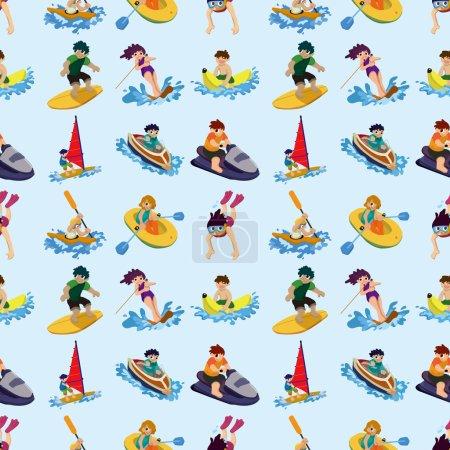 seamless water sport pattern