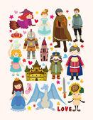 Satz von Märchen Element Symbole
