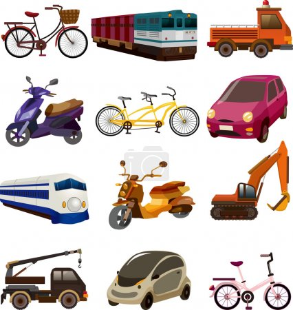 Photo for Set of transport icons - Royalty Free Image