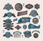 Set Of Vintage labels ribbon  retro style  design elements