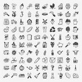 Doodle gazdálkodás ikon készlet
