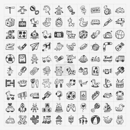 Illustration for Doodle toy icons - Royalty Free Image