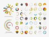 Ikona množiny Infographic elements.pie graf