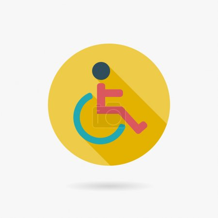 Disabled Flat long shadow icon
