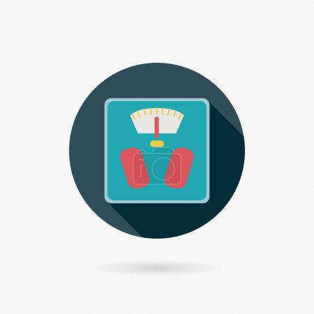 Illustration for Weight scale flat icon with long shadow - Royalty Free Image
