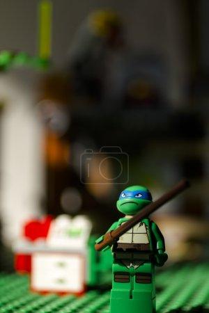 Ninja turtle in headquaters