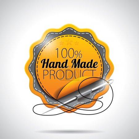 Photo pour Étiquettes de produit faites à la main Illustration avec un design de style brillant sur un fond clair. SPE 10 . - image libre de droit