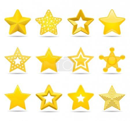 Illustration for Twelve different stars - Royalty Free Image