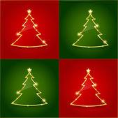 Christmas tree seamless pattern 2