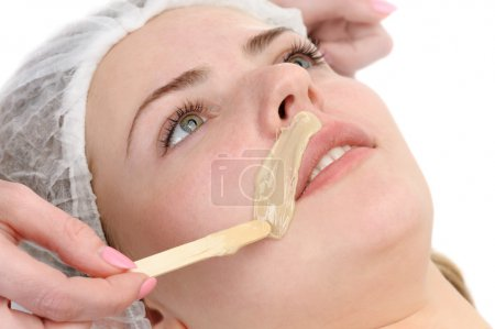 Mustache depilation