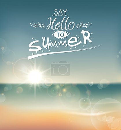 Illustration for Creative graphic message for your summer design. - Royalty Free Image