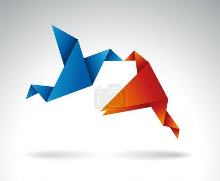 Origami symbolic vector illustration....