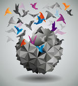 Origami abstract vector illustration