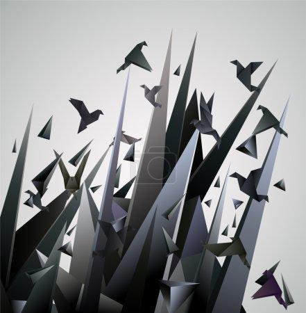Illustration pour Illustration vectorielle abstraite Origami . - image libre de droit