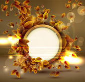 Shiny sensual autumn background with lights