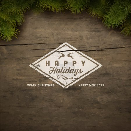 Happy holidays sign background