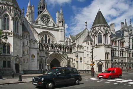 Royal courts of justice in London