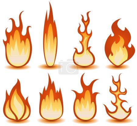 Fire And Flames Symbols Set