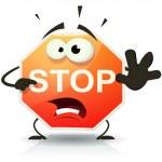 Illustration of a funny cartoon stop traffic sign ...