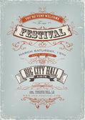 Grunge Festival Einladung poster