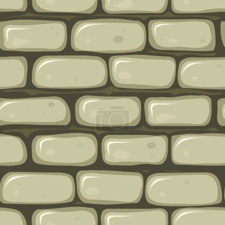 Illustration pour Illustration d'une bande dessinée sans couture vieux fond de papier peint en pierre avec des briques de roche - image libre de droit
