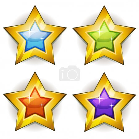 Funny Stars Icons For Ui Game