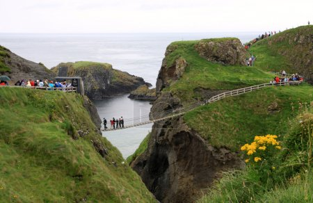 Carrick-a-rede rope bridge and foothpath national ...