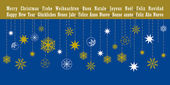 Christmas greetings card in different languages