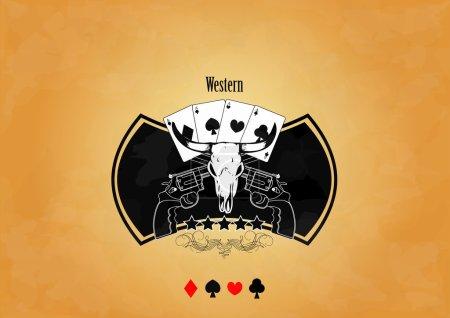 Crest with bull skull