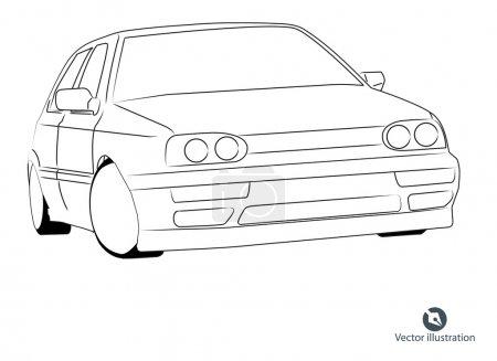 Illustration pour Illustration vectorielle voiture - image libre de droit