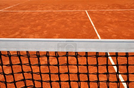 Close up detail of a tennis net