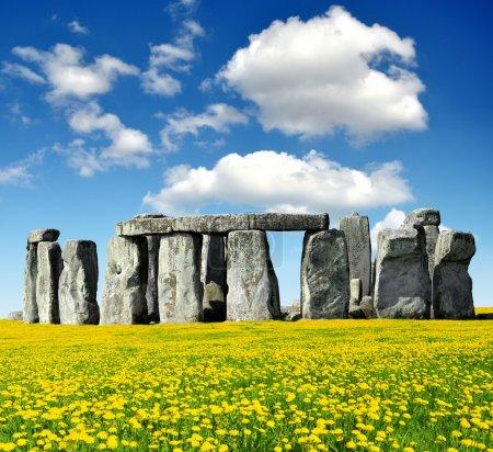 Photo pour Historical monument stonehenge, Angleterre, Royaume-Uni - image libre de droit