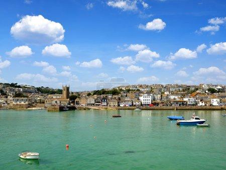 Photo pour St Ives harbour Cornouailles Angleterre Royaume-Uni - image libre de droit