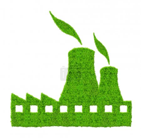 Green Nuclear power plant icon