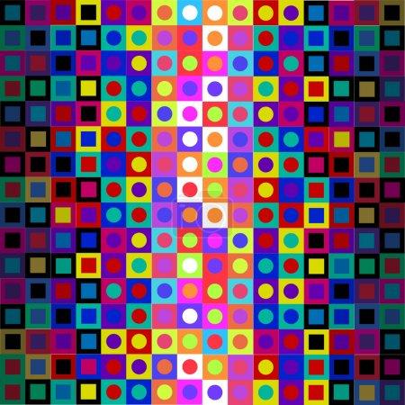 Retro Modern Op Art Pattern