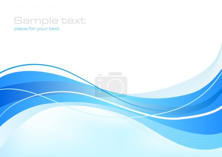 Illustration for Blue abstract background for web or print - Royalty Free Image
