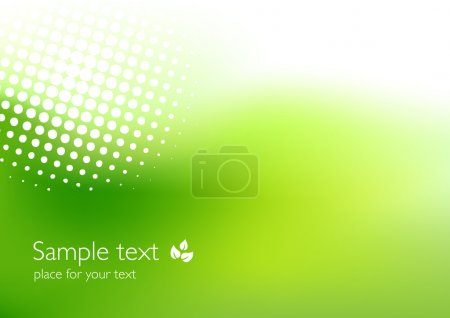 Illustration for Green background suitable for ecological topics - Royalty Free Image