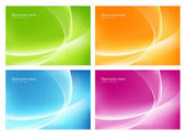 Four colorful backgrounds