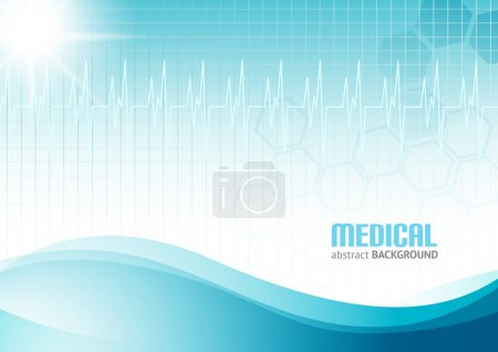 Illustration for Blue abstract background suitble for materials about healthcare and medical topics - Royalty Free Image