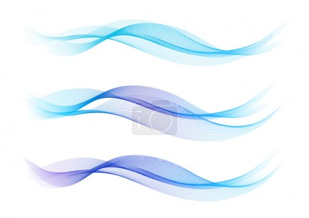 Illustration for Elegant abstract background representing water waves - Royalty Free Image